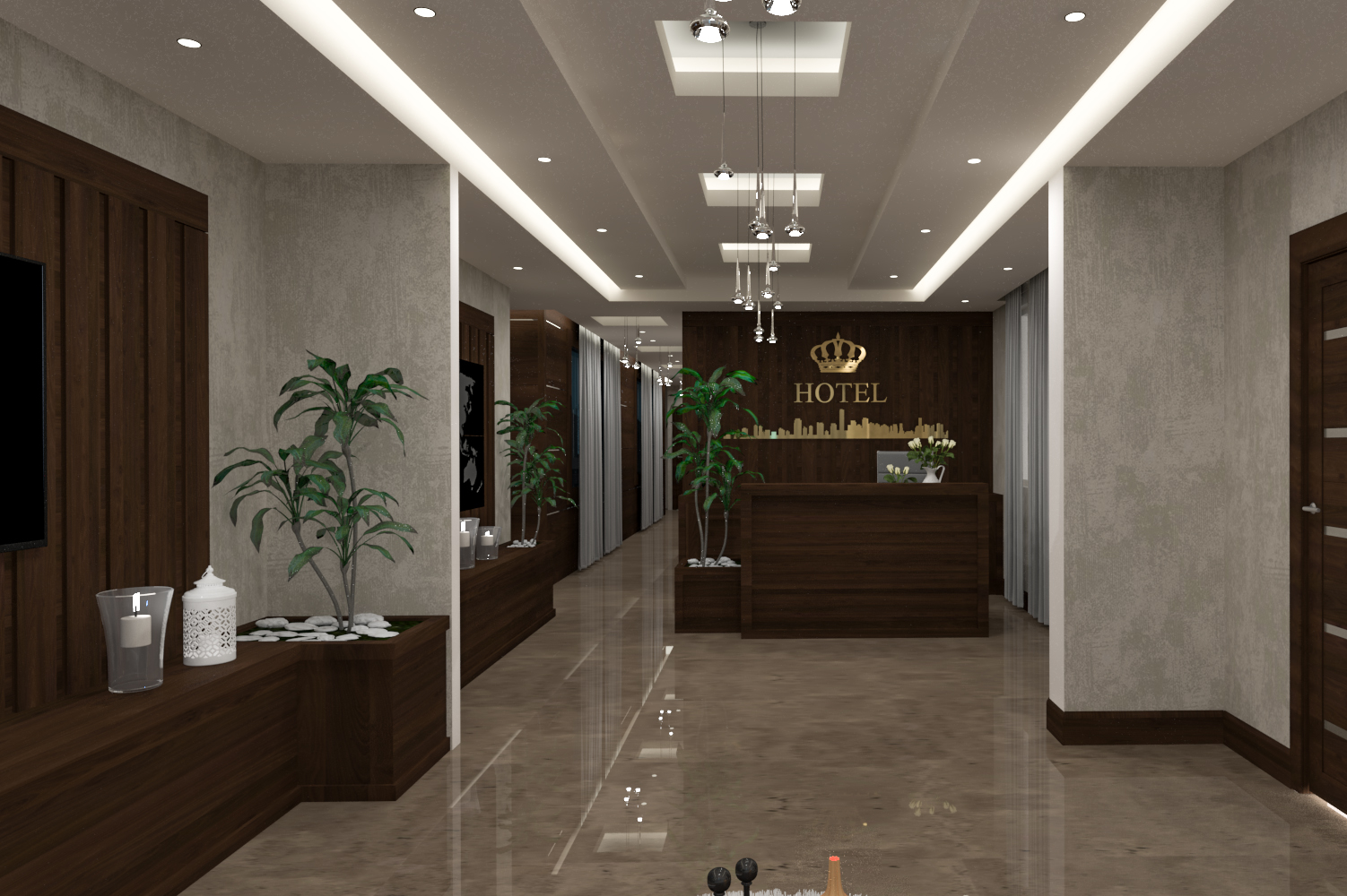 طراحی هتل لوکس در اصفهان
