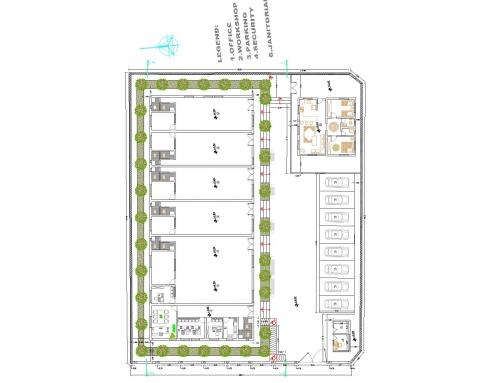 طراحی و تهیه نقشههای مرکز آموزش فنی و حرفهای بوئین میان دشت